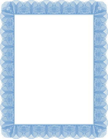 diploma border: Certificate diploma template, empty document ready to be filled. Illustration