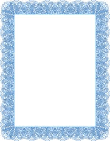 Mod�le de dipl�me, certificat, pr�t � �tre remplis de document vide. Banque d'images - 8402956