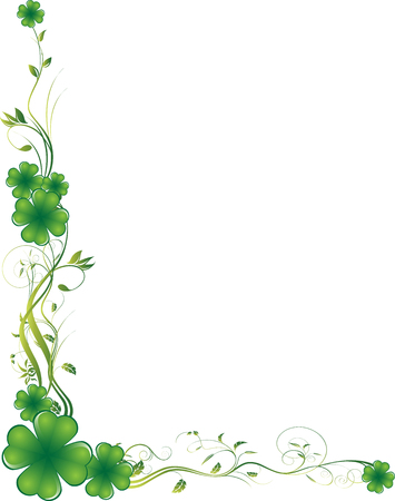 four leaf clovers: Vector illustration. It can be scaled or re-sized as you like, all elements are editable. Illustration