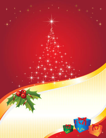 Christmas vectorial illustration. All elements are editable. Stock Vector - 8402958