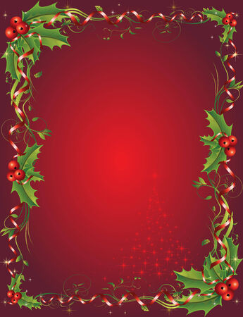Christmas vectorl illustration. All elements are editable. Stock Vector - 8402967