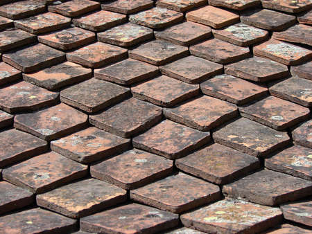 Old style roof texture picture. Stock Photo - 9319369