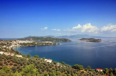 skiathos: Beautiful bay in Skiathos, Greece. Stock Photo
