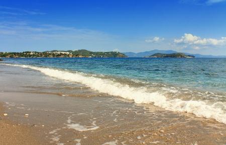 skiathos: Beautiful beach in Skiathos, Greece. Stock Photo