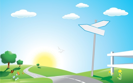 panoramic sky: Vector illustration, all elements are editable. Illustration