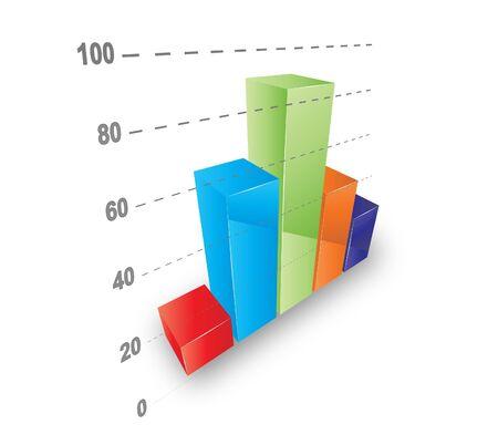 Cool 3D graph. Stock Vector - 9583713