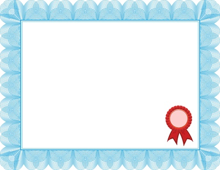 Diploma, certificate template Vector