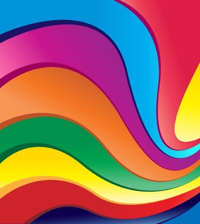 rainbow swirls Stock Vector - 9665395