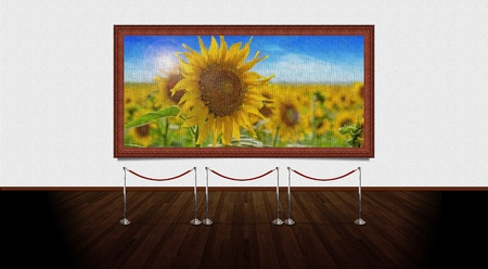 Art Gallery. You can change the picture from frame with one that suits your needs. High resolution elements.