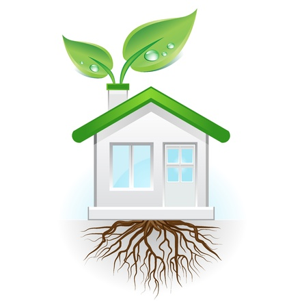 health symbols metaphors: This image is a vector file representing a green house concept,  all the elements can be scaled to any size without loss of resolution.