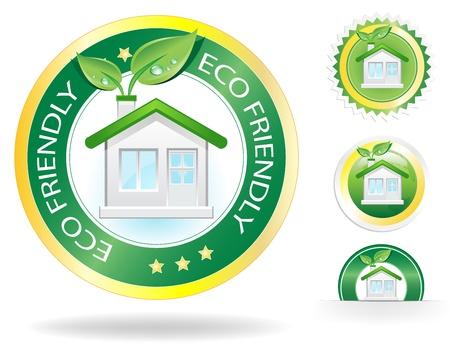 clean home: Deze afbeelding is een vector-bestand die een eco-huis label-concept, kunnen alle elementen worden geschaald tot een formaat zonder verlies van resolutie.