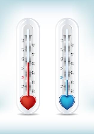 termometro: Questa immagine è un file vettoriale che rappresenta un amore e odio Meter, tutti gli elementi può essere scalata a qualsiasi dimensione senza perdita di risoluzione.