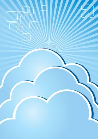 Clouds on a blue background Stock Vector - 14765031