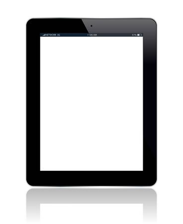 Tablet with blank screen  You can add any picture you want  Vector illustration  Vector