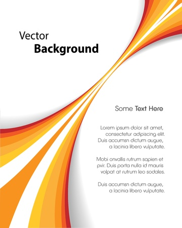 orange background: This image represents an abstract brochure background or cover  Orange Brochure Background