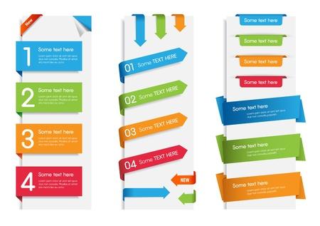 다채로운 웹 스티커, 태그와 컬러 풀 한 컬렉션 웹 스티커, 태그 및 레이블 레이블