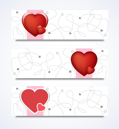 collection set of love banners