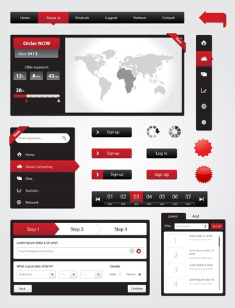 Website elements collection set  Banners, Buttons, Labels, Stickers, Navigation    Web Toolkit