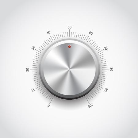 Cette image représente un bouton métallique.  Métal Bouton