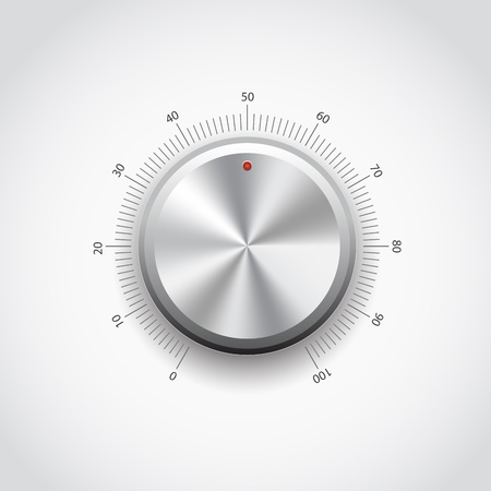 volume knob: This image represents a metal knob.Metal Button
