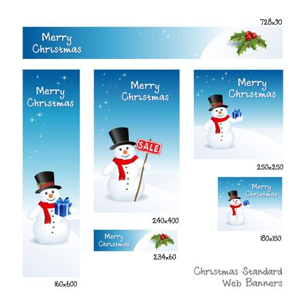 This image represents a Christmas banner set  Christmas Banners Stock Vector - 16263468