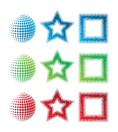 This image represents a pixelate logo set  Pixelate Logos Stock Vector - 16263469