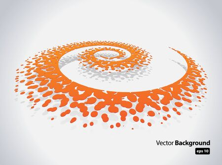 This image represents an abstract spiral background   Abstract Spiral Stock Vector - 16263470