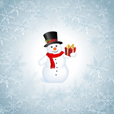 This image represents a Snowflakes Christmas Background.  Snowflakes Christmas Background Vector