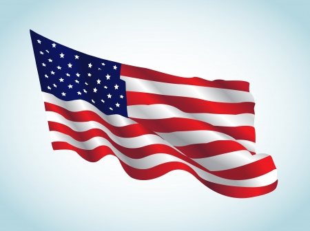 This image represents an american flag in a july day. US Flag Vector