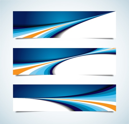 abstract waves:  collection of abstract headers Illustration
