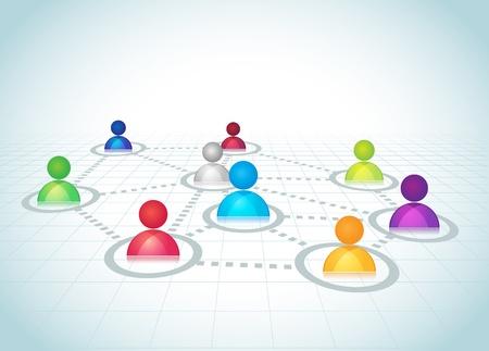 Représentation abstraite des réseaux sociaux Il contient mode de fusion superposition Aucune maille ou des transparents Social Network