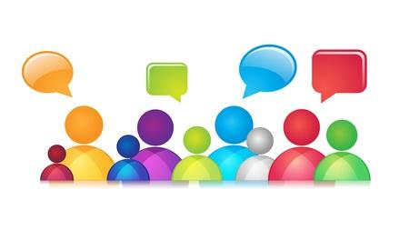 소셜 네트워크 추상 표현은 오버레이 혼합 모드 아니 메쉬 또는 투명 사회 통신 포함 일러스트