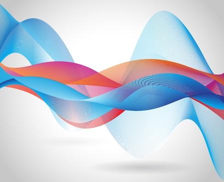 Résumé représentation vague de fusion Multiplier le mode de l'ombre Illustration