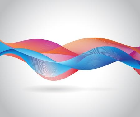 multiply: Representaci�n abstracta Wave Multiplicar el modo de mezcla de sombra