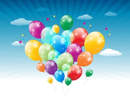 baloon: Balloons flying in the air  No mesh items  Screen  blend mode