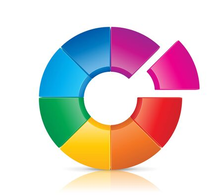pie diagrams: This image is a file representing a Colorful Wheel concept.  Illustration