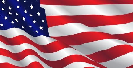 Cette image représente un drapeau des États-Unis dans une journée de juillet.