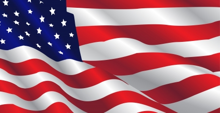 This image represents an United States Flag in a july day.