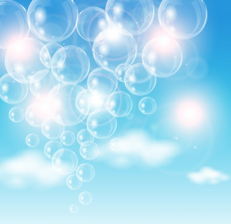 air bubble: This image is a file representing air bubbles flying in the sky    Air Bubble Illustration