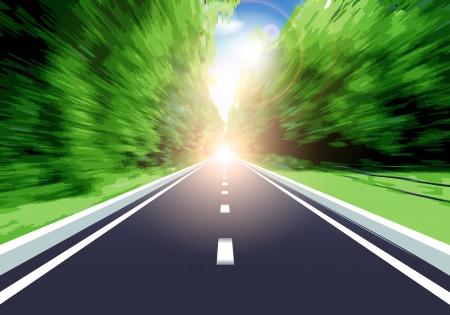 Cette image est un vecteur représentant la vitesse de fichier sur une route de campagne