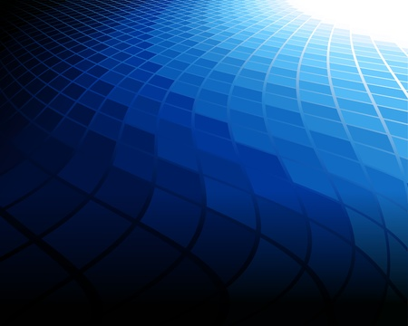 a blue abstract background.