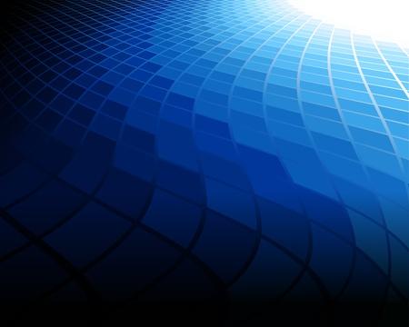 un fond abstrait bleu. Illustration