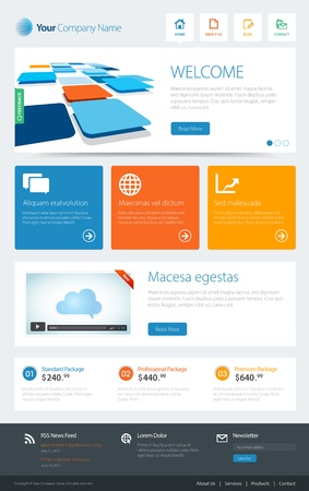 a website template  Vector