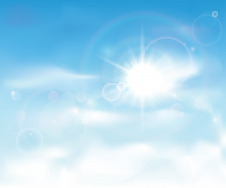 sky: This image is a vector file representing a clear blue sky