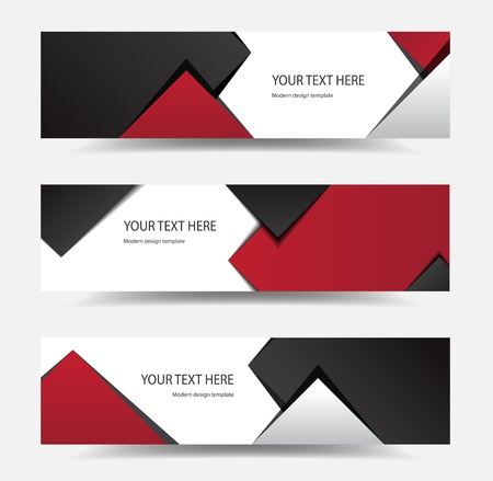 This image is a file representing a modern banner set. Illustration