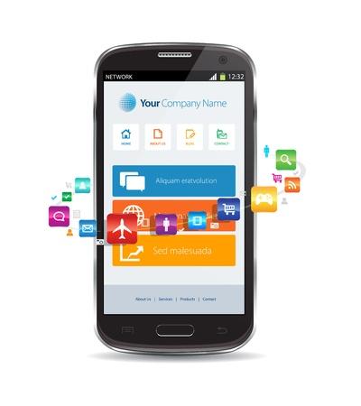 smartphone apps: internet cloud smartphone apps concept