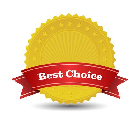 Cette image est un fichier vectoriel représentant meilleur insigne de choix.