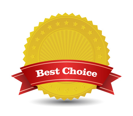 This image is a vector file representing best choice badge.
