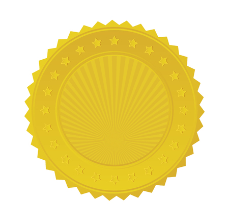 Gold Seal Badge. Stock Vector - 22279676