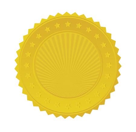 Gold Seal Badge. Stock Vector - 22279676